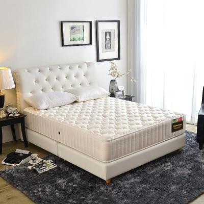Ally愛麗-頂級蠶絲+保暖抗菌蜂巢獨立筒床墊-雙人加大6尺