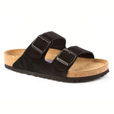 勃肯BIRKENSTOCK 951321。亞利桑那經典二條拖鞋(絨黑色)