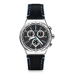 Swatch 金屬系列 BLUE DETAILS 藍色細節手錶