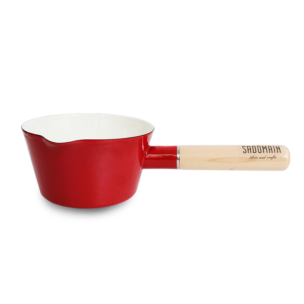 仙德曼SADOMAIN 琺瑯牛奶鍋15cm(復古紅)