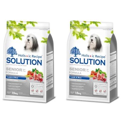 耐吉斯SOLUTION  高齡犬 關節保健配方 羊肉&田園蔬菜7.5Kg x 2包