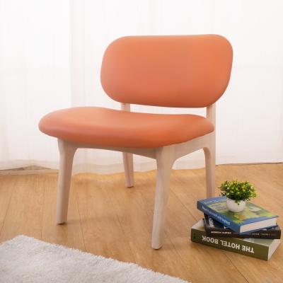 Boden-梅森實木橘色餐椅/單椅-60x60x72cm