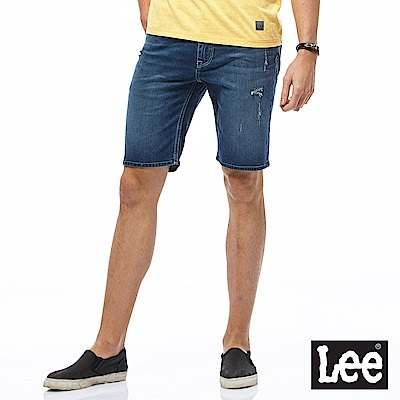Lee 小刷破牛仔短褲-男款