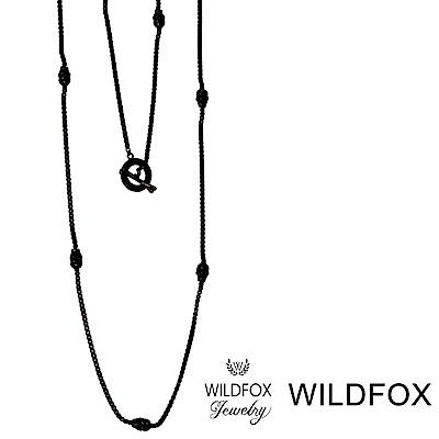 Wildfox Couture 美國品牌 骷髏頭古典黑色長項鍊 細長款