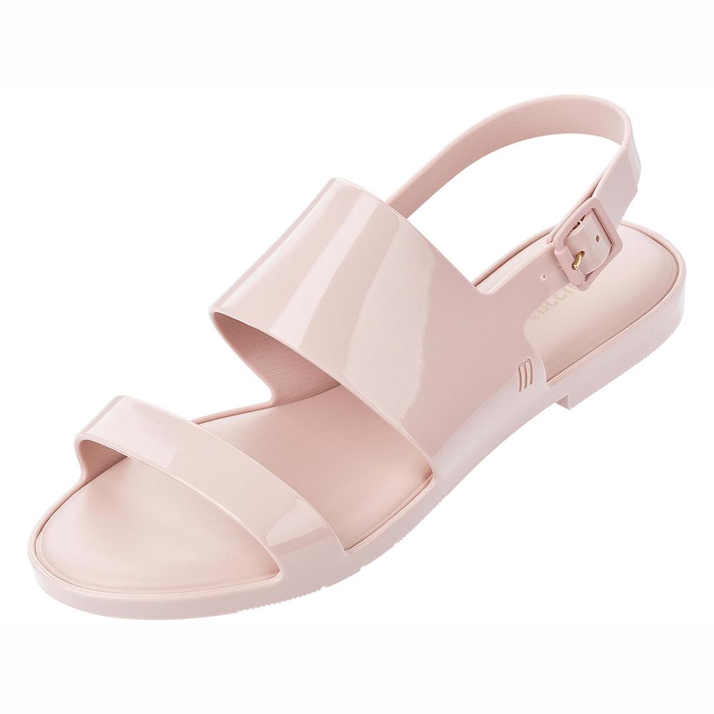 MELISSA 極簡純色平底涼鞋-粉色