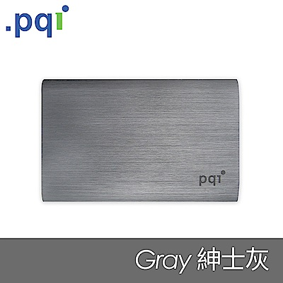 PQI Power 10000V 髮絲紋行動電源 坤士灰