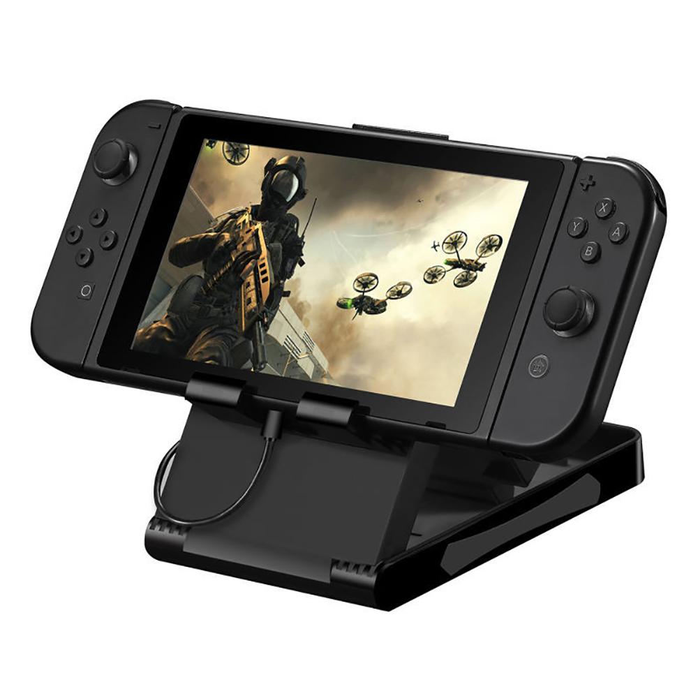 KJH任天堂Switch可調式支架 可折疊攜帶支架 角度可調 同時充電 主機座