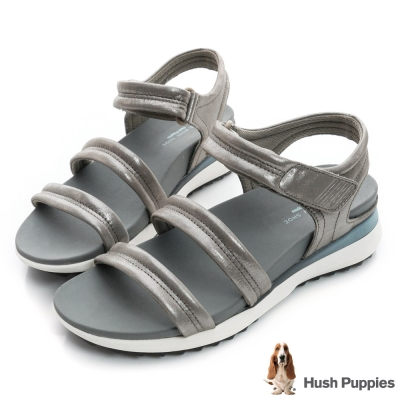 Hush Puppies IVANIA 時尚輕量運動涼鞋-銀色