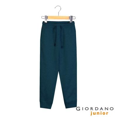 GIORDANO 童裝G-MOTION鬆緊抽繩休閒束口褲 - 05 雪花標誌海軍藍
