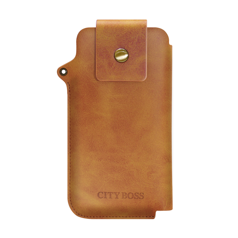 CityBoss iPhone X 5.8吋 完美實用收納手機包-送掛繩