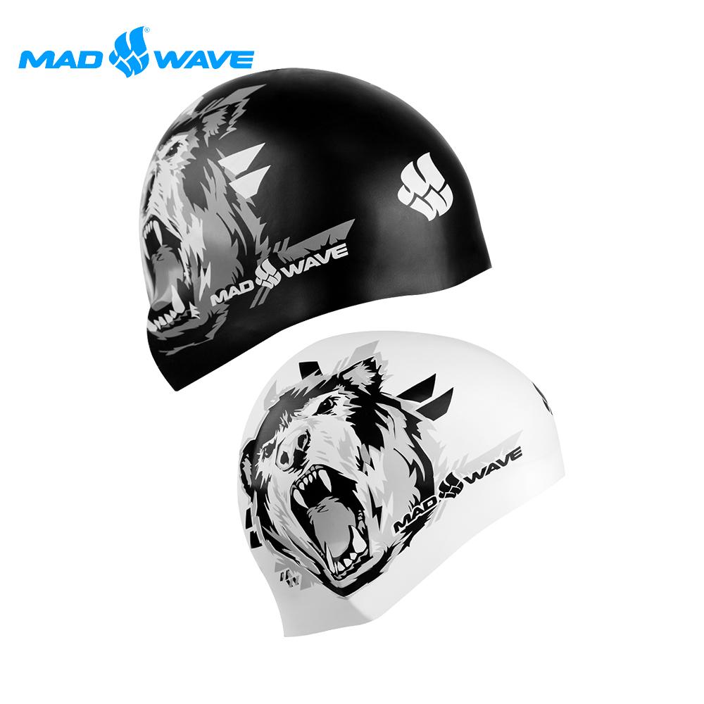 俄羅斯 邁俄威 成人矽膠雙面泳帽(可雙面使用) MADWAVE GRIZZLY