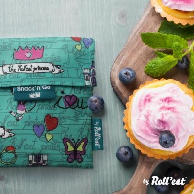 Roll eat 西班牙環保吃貨零食袋-童趣/巴賽隆納系列(八色任選)
