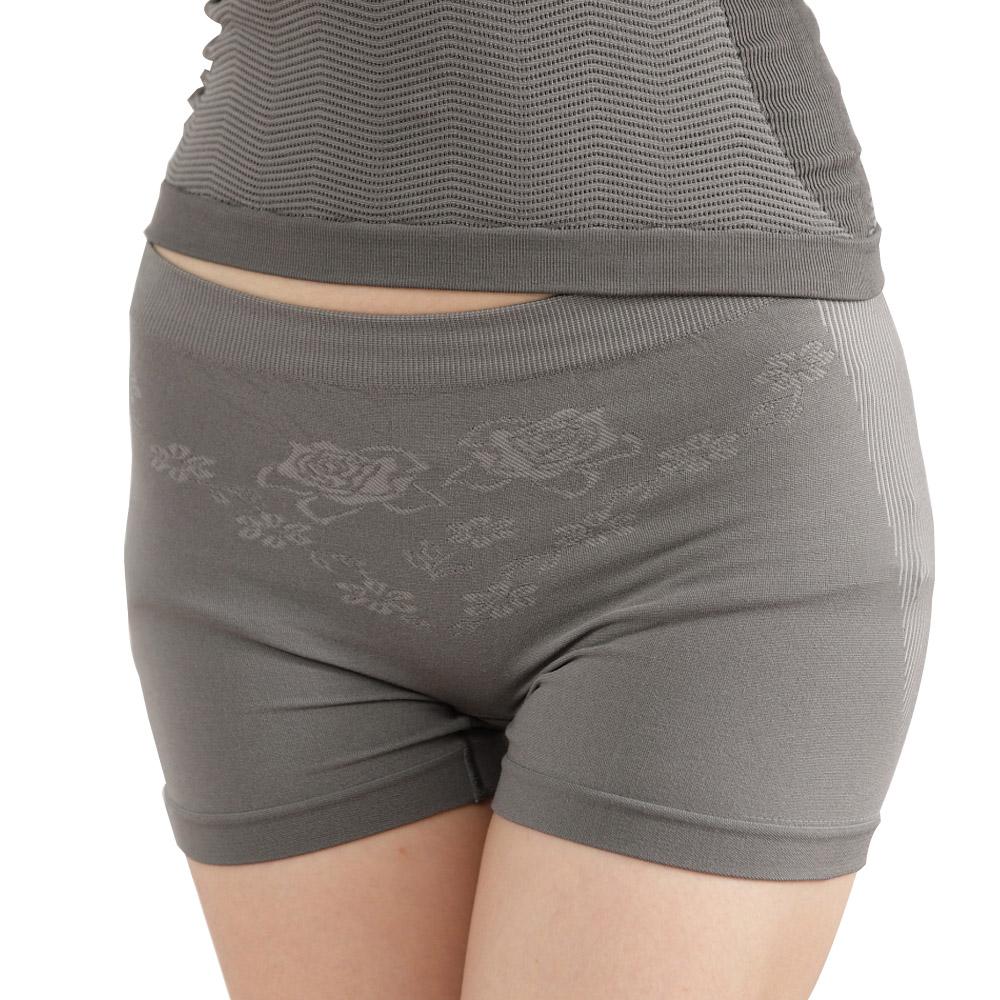 女內褲 極品竹炭無縫中腰平口褲/深灰(超值6入) 源之氣