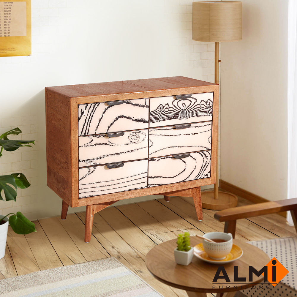 ALMI_CHEST 6 DRAWERS 六斗櫃W90*D45*H92CM product image 1