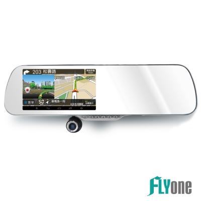 FLYone RM1000 PLUS 安卓觸控導航+測速照相 後視鏡行車記錄器-急速配