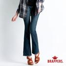 BRAPPERS 女款 新美腳 Royal 系列-女用彈性青銅爪釦小喇叭褲-藍