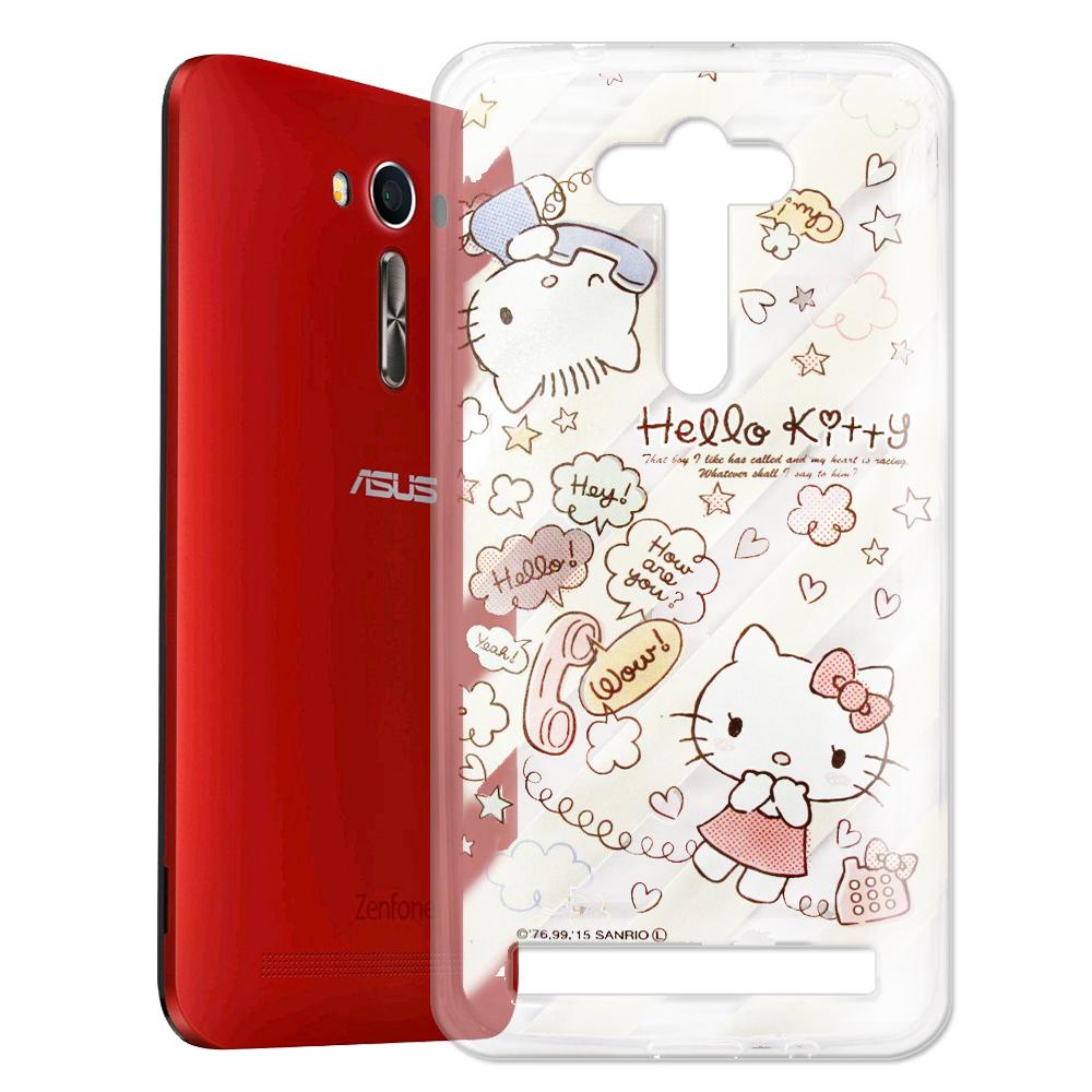 Hello Kitty ASUS Zenfone2 Laser 5.5吋透明軟式殼 熱線款