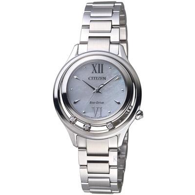 CITIZEN  L 光動能星星閃耀晶鑽腕錶(EM0510-88D)-銀色/32.5mm