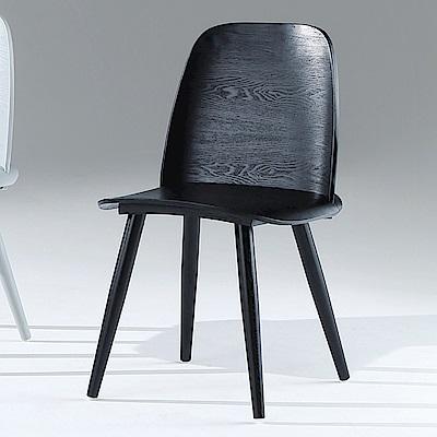 AS-安格斯黑色餐椅-45x45x86cm