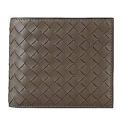 BOTTEGA VENETA 經典小牛皮手工編織造型對折短夾(大象灰)