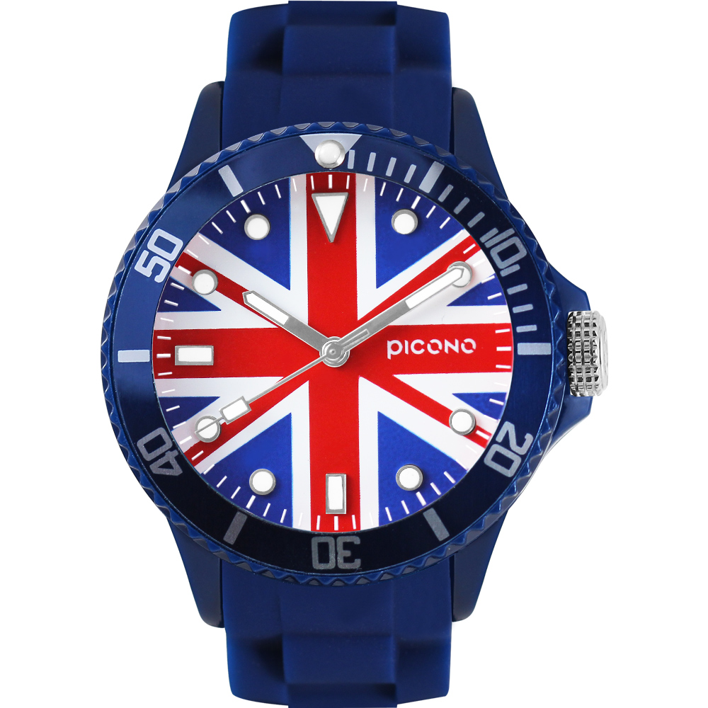 PICONO 國旗系列腕錶-英國x藍/48mm
