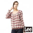 Lee 長袖襯衫荷葉邊縮口-女款(格紋) LL110324096