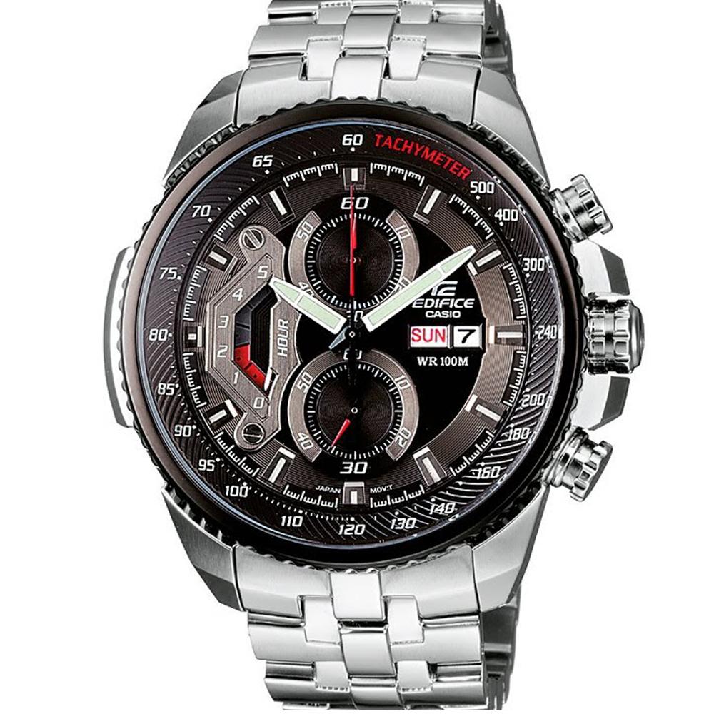 EDIFICE 新美學大錶面計速計時賽車錶(EF-558D-1A)-黑/49.3mm