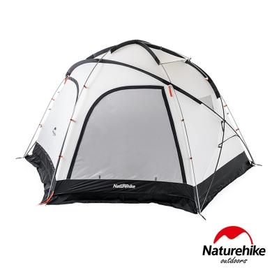 Naturehike 雲洞210T戶外防水野營六角帳篷4-8人 贈地席 米色