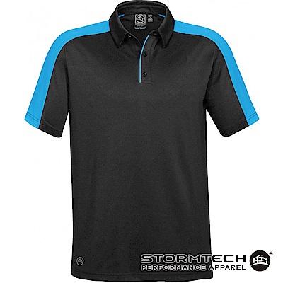 【加拿大STORMTECH】H2X-DRY抗勾紗拼色POLO衫-ENX-1男-黑藍