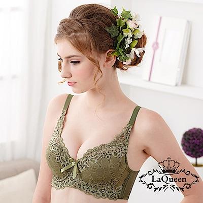 內衣  性感絕色軟杯成套內衣-綠 La Queen