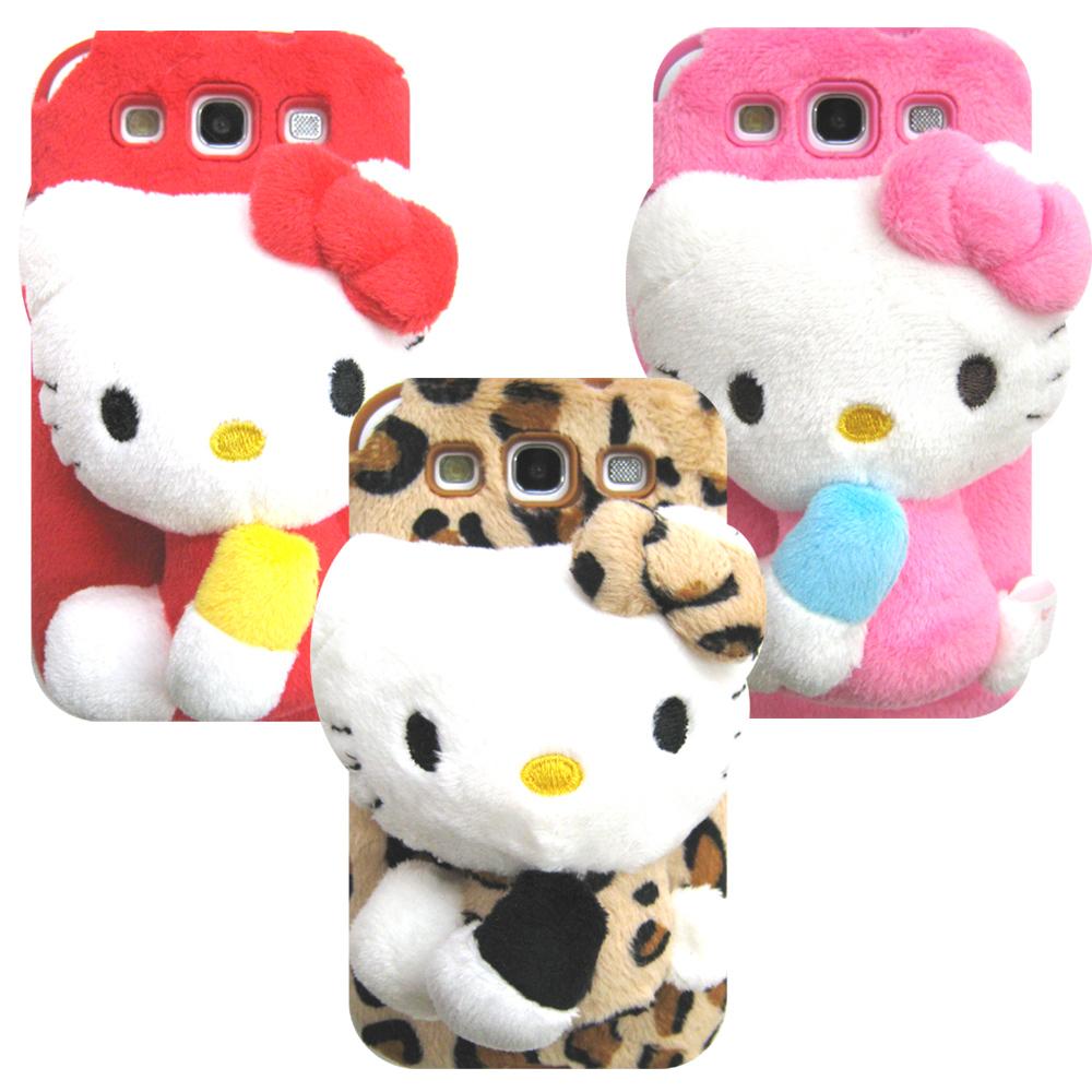 三星SAMSUNG S3 i9300專用HELLO KITTY絨毛娃娃手機殼