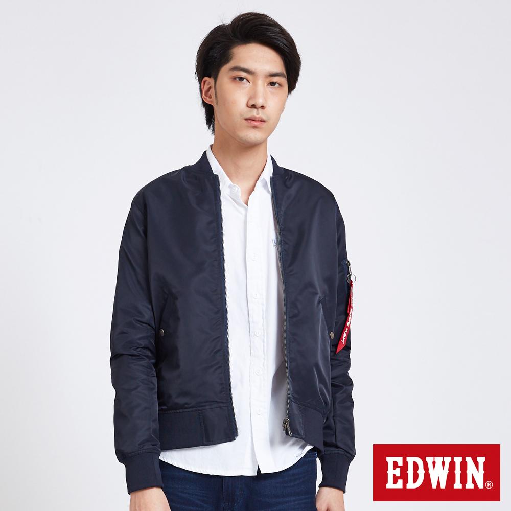 EDWIN 雙面穿MA1迷彩外套-男-丈青