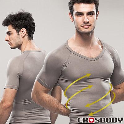 EROSBODY 男生 灰色健身塑身內衣 短袖 推薦