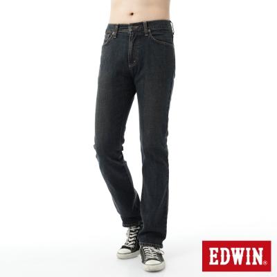 EDWIN 大尺碼 基本五袋直筒牛仔褲-男-中古藍