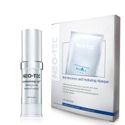 NEO-TEC妮傲絲翠 天然玻尿酸加強保濕組(高效保濕凝露+水嫩修護面膜4片)
