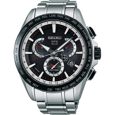 SEIKO ASTRON GPS衛星電波腕錶(SSE051J1)-黑/45mm