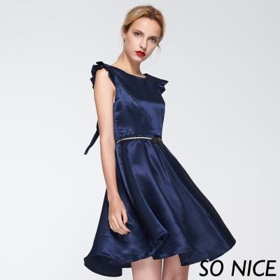 SO NICE浪漫俏麗綁結洋裝