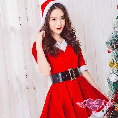 角色扮演 曼妙女孩 聖誕連身裙派對表演服(紅F) AngelHoney天使霓裳