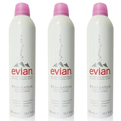 Evian愛維養 護膚礦泉噴霧 300ml 3入