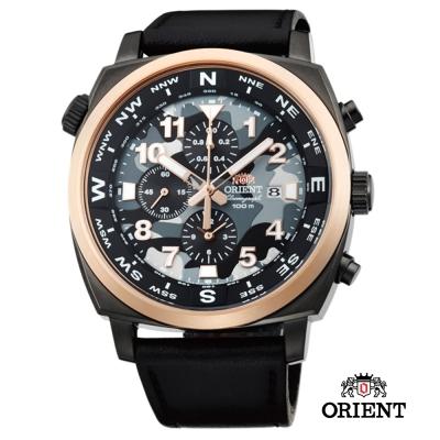 ORIENT 東方錶 HEAVY SPORT系列  東方霸王石英錶-迷彩色/45.5mm