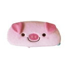 UNIQUE 動物樂園毛絨筆帶。粉紅豬