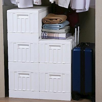 創意達人x樹德典雅貨櫃屋組裝收納箱5入組