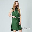 OUWEY歐薇 率性甜美露肩綴珠洋裝(綠)