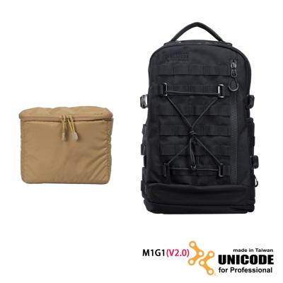UNICODE M1G1 雙肩攝影背包 內袋套組(V2.0版)-黑色