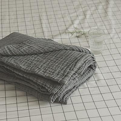 翔仔居家 雙層紗涼毯-150x200cm(質感灰) 台灣製