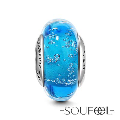 SOUFEEL索菲爾 925純銀珠飾 藍色海洋 琉璃珠