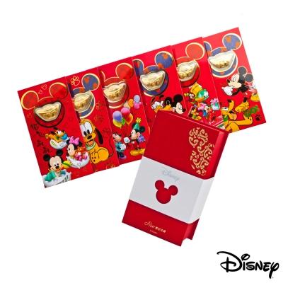 Disney迪士尼系列金飾-黃金元寶紅包禮盒組
