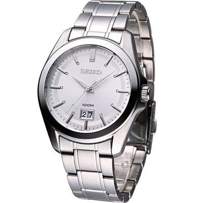 SEIKO 爵士品味時尚紳士腕錶(SUR007P1)-銀白/40mm