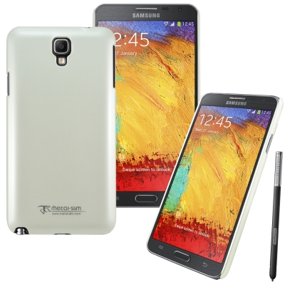 Metal-Slim Samsung Galaxy Note3 Neo珍珠光感保護殼(白)