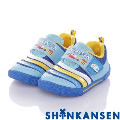 新幹線 輕量透氣抗菌防臭吸震休閒鞋-藍